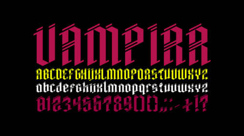 Vampirr font