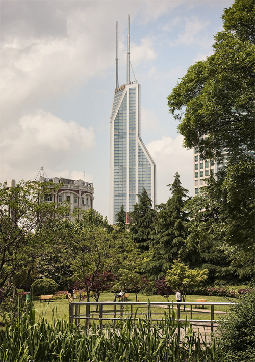 People's Park and Shimao International Plaza