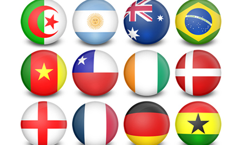 WorldCup Flag-Balls - 32 Icons