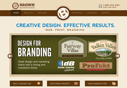 brown advertising