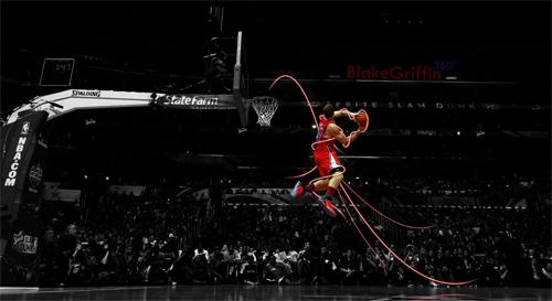 Blake Griffin 360 Slam Dunk Contest Widescreen Wallpaper