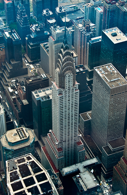 Chrysler Building from above