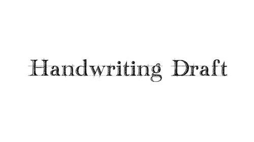 Handwriting Draft font