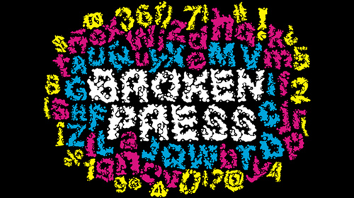 Broken Press font