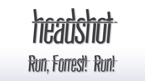 headshot font