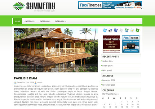Symmetry WordPress Theme