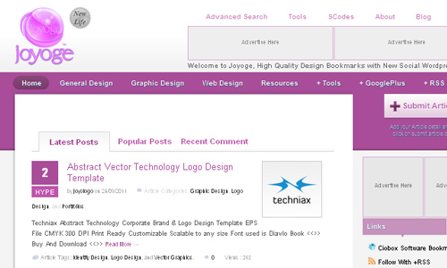 joyoge designers Social Bookmarking