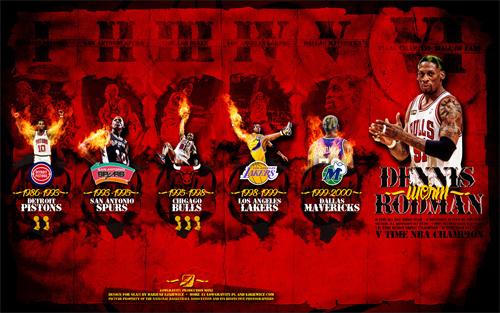 Dennis Rodman Career Widescreen Wallpaper