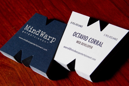 MindWarp Entertainment business card