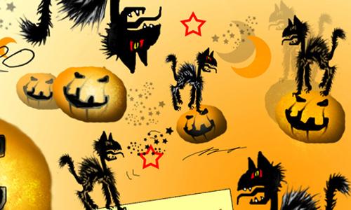 Halloween Cat's Brush