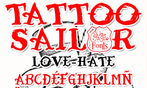 Tattoo Sailor font