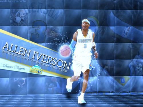 Allen Iverson 3 Nuggets Wallpaper