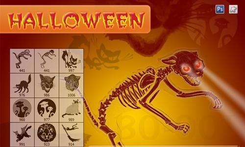 12 Evil Cats - Halloween Stuff