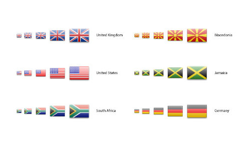 240+ Country Flag Icons In Multiple Sizes