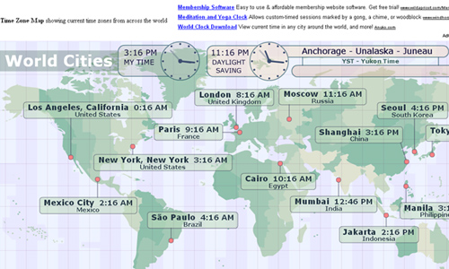 16 useful websites with world clock utilities blueblots timezonecheck is a local time map which shows the current local time in major cities across the world gumiabroncs Choice Image