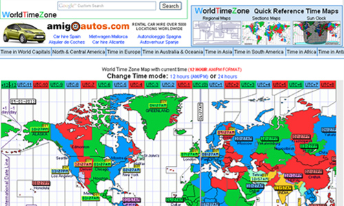 16 useful websites with world clock utilities blueblots worldtimezone shows the current time around the world and countries operating daylight savings time gumiabroncs Gallery