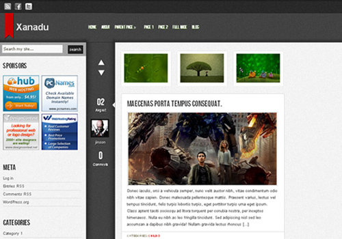 xanadu wordpress theme