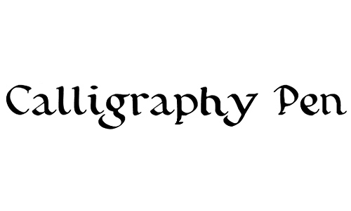 A Collection Of Beautiful Calligraphy Fonts