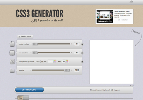 css3 Generator - By Eric Hoffman and Peter Funk