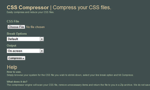 CSS Compresor by Sevenforty
