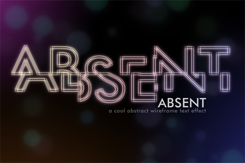 How to  Create an Abstract Wireframe Text Effect