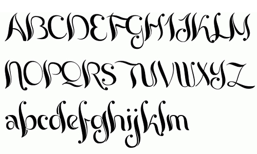 Free Tattoo Lettering Generator Calligraphy