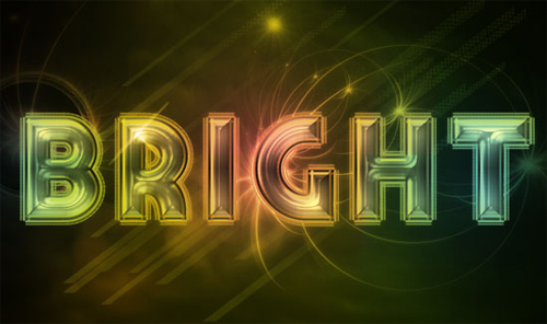 Bright Retro Text Effect