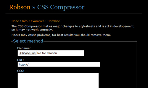 Robson - CSS Compressor