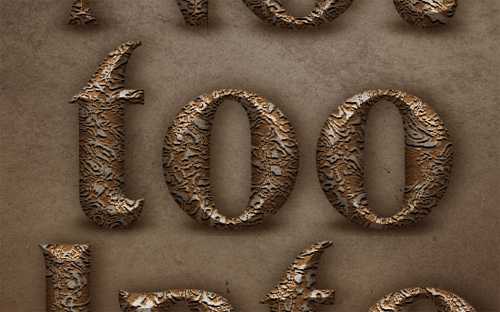 Old Decorated Metal Text Effect