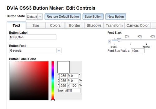 css3 button maker