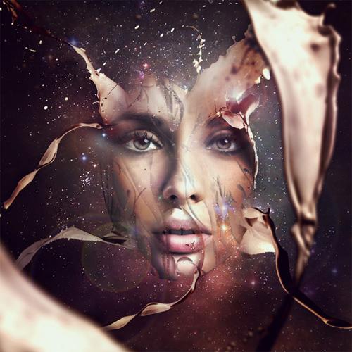 Design a Futuristic Abstract Portrait