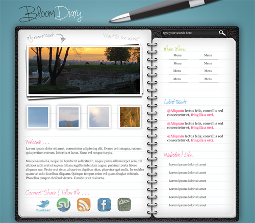 Design a Diary/Journal Web Layout in Photoshop