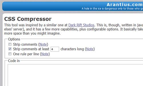 Arantius.com - CSS Compressor