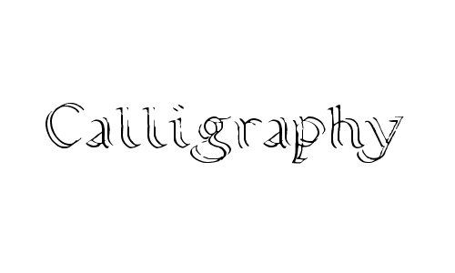 Calligraphy Double Pencil font