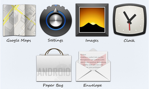 WIP android dock Icons