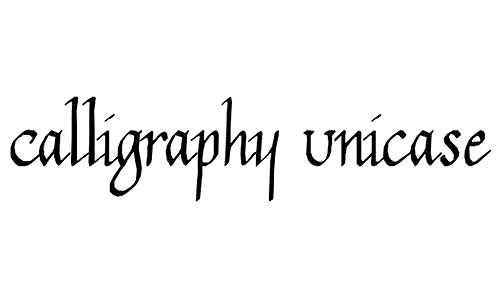 Calligraphy Unicase font