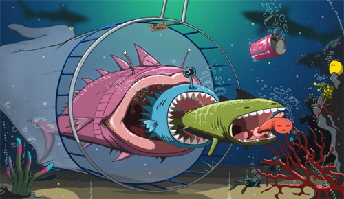 Create an Underwater, Vector-Style Illustration in Photoshop