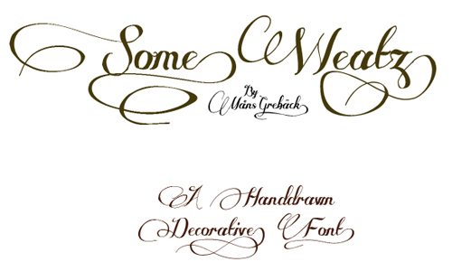 Some Weatz font