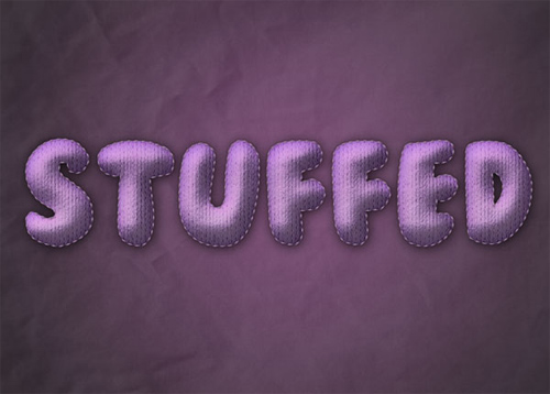 Learn to Create Stuffed Text Effect
