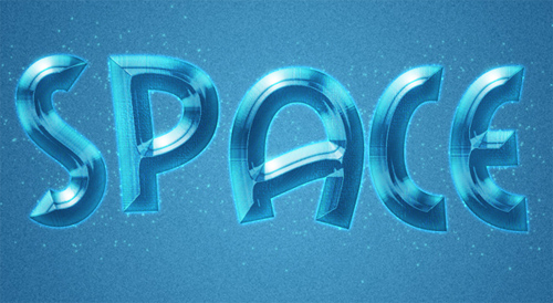 Create Space Style Text Effect