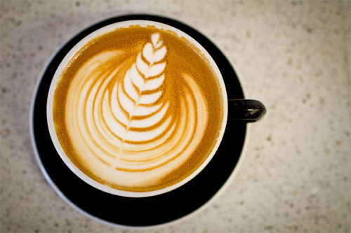 latte art tulip
