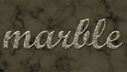 Learn to Create Marble Text Effect