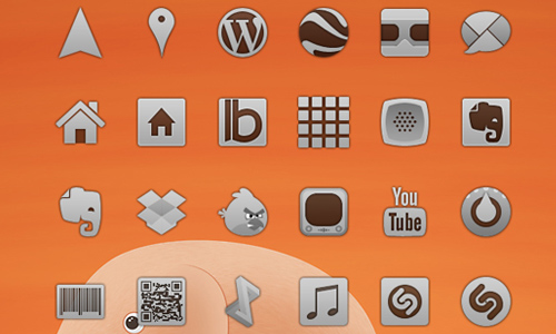a collection of free android themed icons blueblotscom