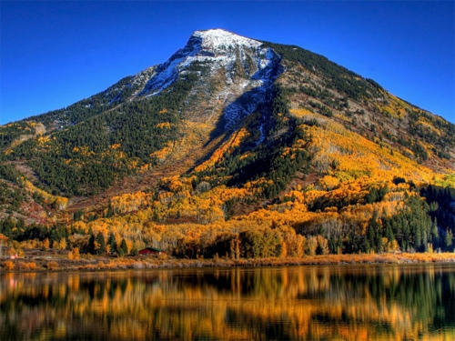 Autumn Mountain Fall Leaves Desktop Wallpaper