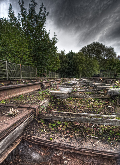 Old railway turntable - Oxford, England