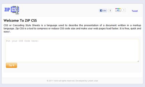 ZiP CSS - An Online CSS Compressor