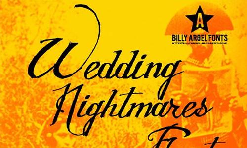 WEDDING NIGHTMARES font