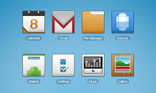 Android HD icons