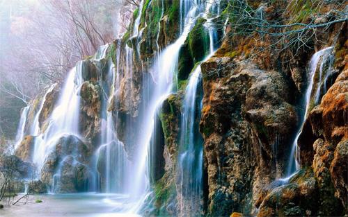 Mountains Waterfalls