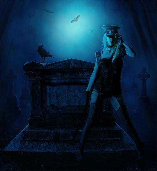 Creating 'The Vampire Hunter' a Dark Photo Manipulation